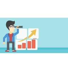 Man searching opportunities for business growth vector