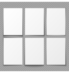 A4 blank sheets of white paper with different vector