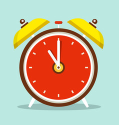 alarm clock flat design icon vector image
