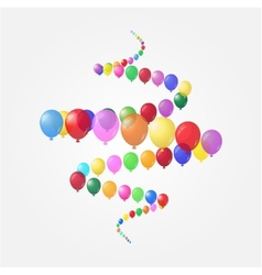 Background of balloons vector image vector image