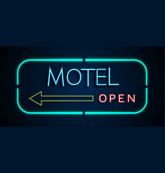 background of neon signs hotel vector image vector image