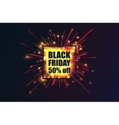 Black friday fireworks discounts vector
