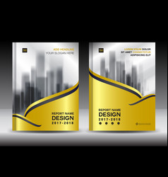 brochure template layout gold cover design flyer vector image vector image