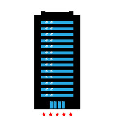 building icon different color vector image