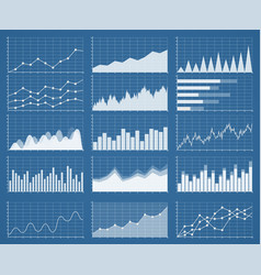 Business graphics and charts set vector