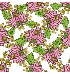 Chinese traditonal seamless pattern with flowers vector image