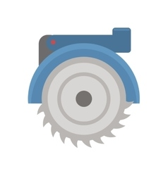 Electric saw vector image