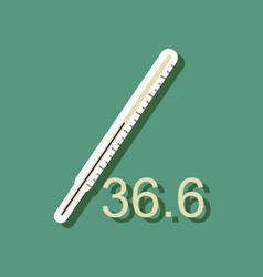flat icon design collection body thermometer in vector image