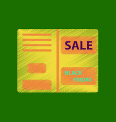 Flat shading style icon sale booklet vector