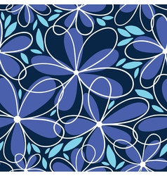 Floral doodle seamless vector image