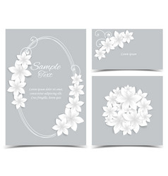 gray background with white flowers vector image