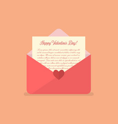 happy valentines day letter vector image vector image