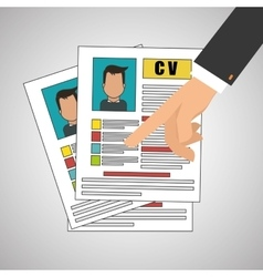 human resources document design vector image