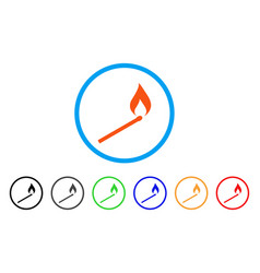 Match ignition rounded icon vector