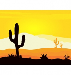 Mexico desert vector