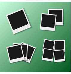 Photo frame eps10 realistic snapshot icon square vector