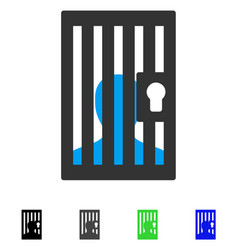 Prison locked door flat icon vector
