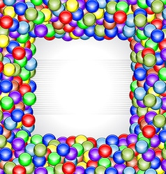 Shiny balls frame vector image vector image