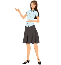 Smiling office girl vector image vector image