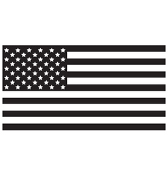 Usa flag black vector