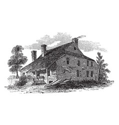 Washingtons headquarters at newburg vintage vector