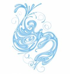 Whorl of water vector