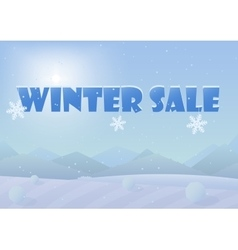 Winter sale words on the beautiful Chrismas winter vector image