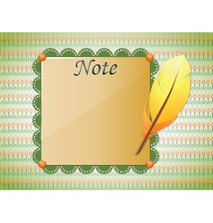 Seamless background with feather and paper vector