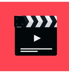 Flat movie clapperboard vector