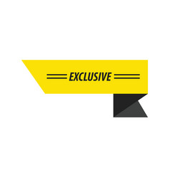 Design ribbon exclusive black yellow vector