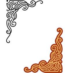 vine shape floral Vignette vector image