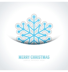 Merry christmas card and snowflake vector