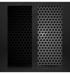 Black geometric banner vector