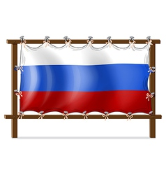 A frame with the flag of russia vector