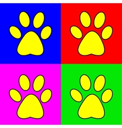 Set of of pug marks signs vector