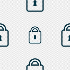 Lock icon sign seamless pattern with geometric vector