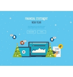 The financial report merry christmas greeting vector