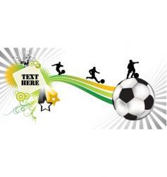 soccer white vector image