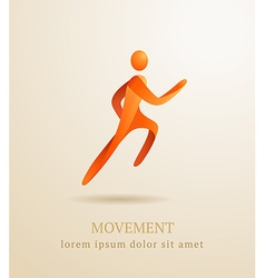 Business concept abstract human movement symbol vector