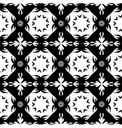Seamless monochromatic pattern with butterflies vector