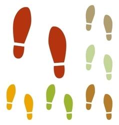 Imprint soles shoes sign vector