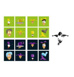 Assembly of flat icons on theme humor vector