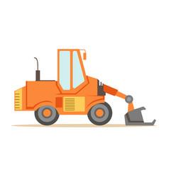 bulldozer loader truck machine part of roadworks vector image vector image