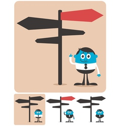Choice and Direction vector image
