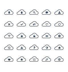 Clouds computing icon set vector