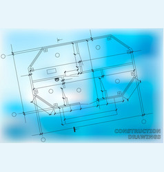 Construction plan architectural background vector