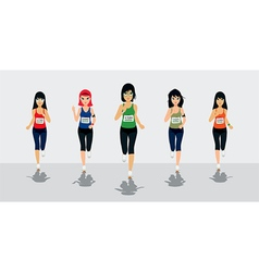 Female runners vector