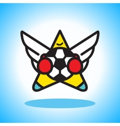 Flying soccer player vector