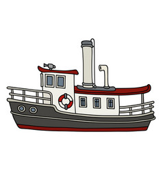 funny old steamboat vector image