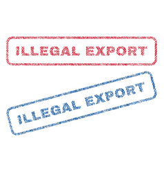 Illegal export textile stamps vector